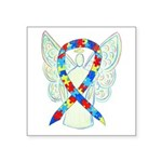 Puzzle Ribbon Angel Sticker