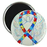 Puzzle Ribbon Angel Magnets