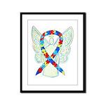 Puzzle Ribbon Angel Framed Panel Print