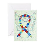 Puzzle Ribbon Angel Greeting Cards