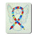 Puzzle Ribbon Angel Mousepad