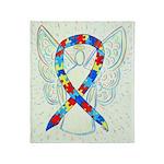 Puzzle Ribbon Angel Throw Blanket