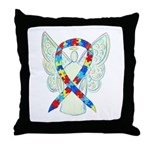 Puzzle Ribbon Angel Throw Pillow