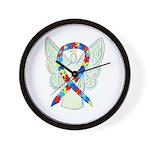 Puzzle Ribbon Angel Wall Clock