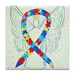 Puzzle Ribbon Angel Tile Coaster