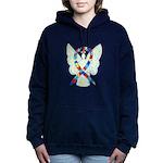 Puzzle Ribbon Angel Women's Hooded Sweatshirt