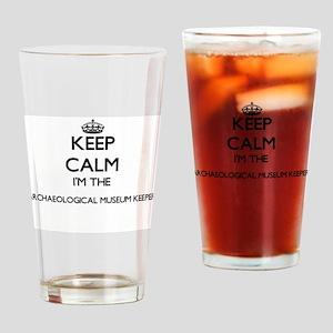 Keep calm I'm the Archaeological Mu Drinking Glass