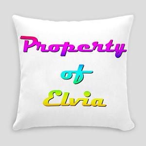 Property Of Elvia Female Everyday Pillow