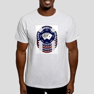 Holdem Poker Chips Ash Grey T-Shirt
