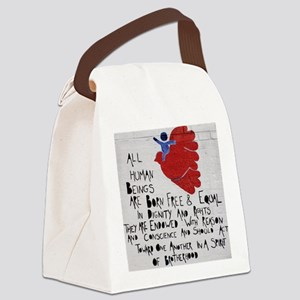All Human Beings Canvas Lunch Bag