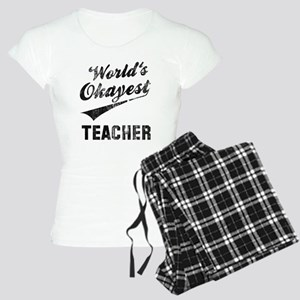 World's Okayest Teacher Women's Light Pajamas