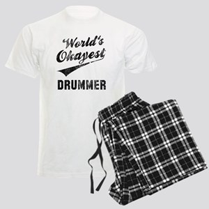 World's Okayest Drummer Men's Light Pajamas