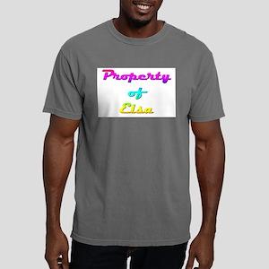 Property Of Elsa Female Mens Comfort Colors Shirt