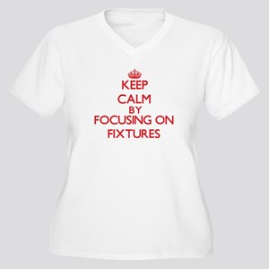 Keep Calm by focusing on Fixture Plus Size T-Shirt