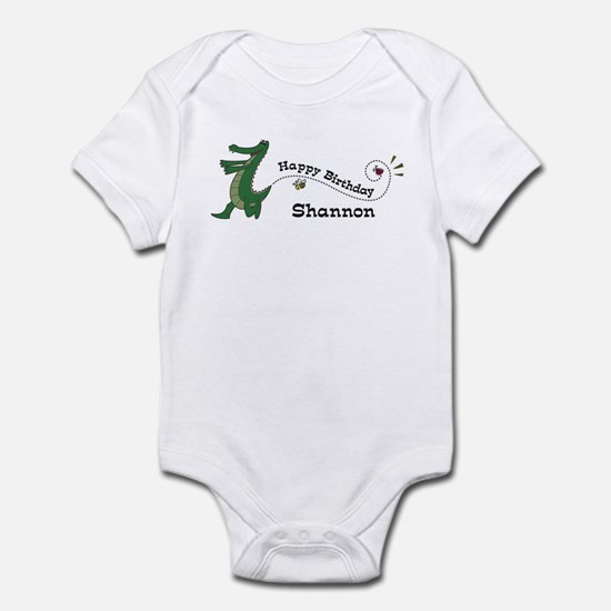 Happy Birthday Shannon (gator Infant Bodysuit