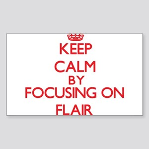 Keep Calm by focusing on Flair Sticker
