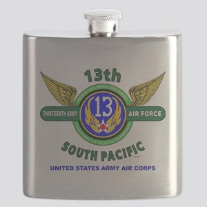 13TH ARMY AIR FORCE* ARMY AIR CORPS* WORLD W Flask