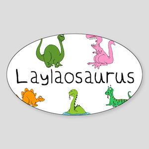 Laylaosaurus Oval Sticker