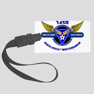 12TH ARMY AIR FORCE *ARMY AIR CO Large Luggage Tag