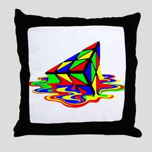 Pyraminx cude painting01B Throw Pillow