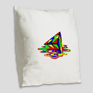 Pyraminx cude painting01B Burlap Throw Pillow