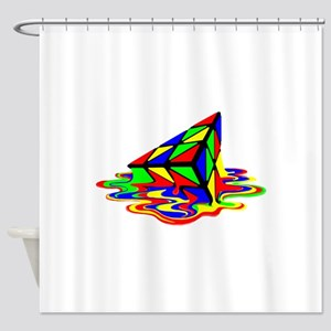 Pyraminx cude painting01B Shower Curtain