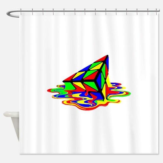 Pyraminx cude painting01B Shower Curtain