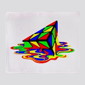 Pyraminx cude painting01B Throw Blanket