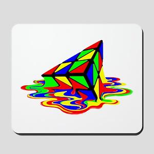 Pyraminx cude painting01B Mousepad