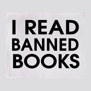 I read banned books Throw Blanket