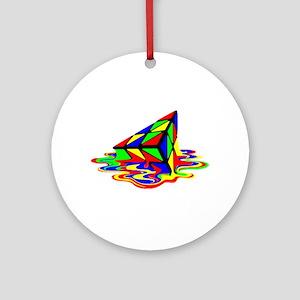 Pyraminx cude painting01B Ornament (Round)