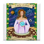 Lady Libra Tile Coaster