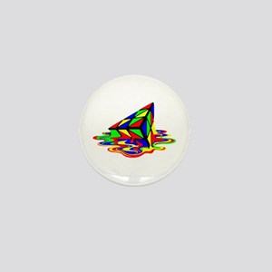 Pyraminx cude painting01B Mini Button