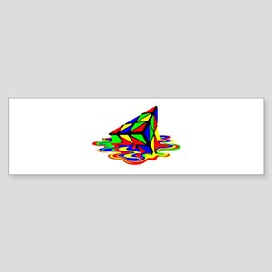 Pyraminx cude painting01B Bumper Sticker