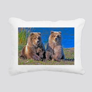The Grizzly Cubs Rectangular Canvas Pillow