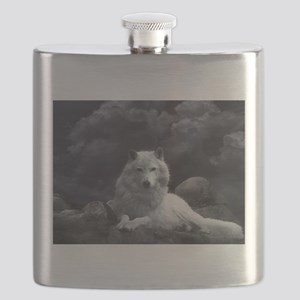 white wolf Flask