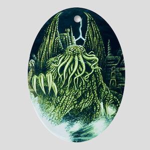 Cthulhu & R'lyeh Oval Ornament