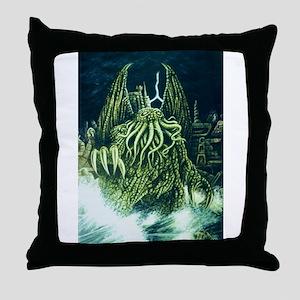 Cthulhu & R'lyeh Throw Pillow