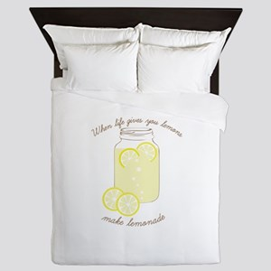 Make Lemonade Queen Duvet