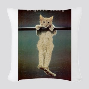 Hang in There Baby! Woven Throw Pillow