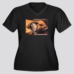 Would a Hug Make Your Day Plus Size T-Shirt