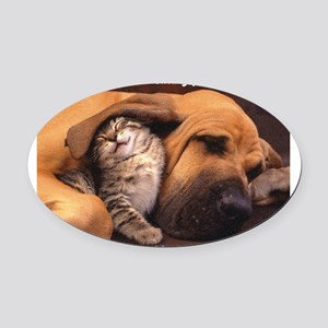 Would a Hug Make Your Day Oval Car Magnet