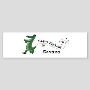 Happy Birthday Savana (gator) Bumper Sticker