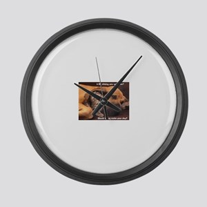 Would a Hug Make Your Day Large Wall Clock