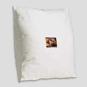 Would a Hug Make Your Day Burlap Throw Pillow