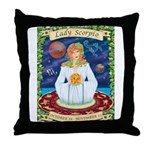 Lady Scorpio Throw Pillow