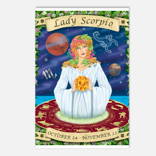 Lady Scorpio Postcards (Package of 8)
