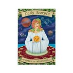 Lady Scorpio Rectangle Magnet