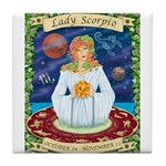 Lady Scorpio Tile Coaster