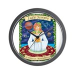 Lady Scorpio Wall Clock